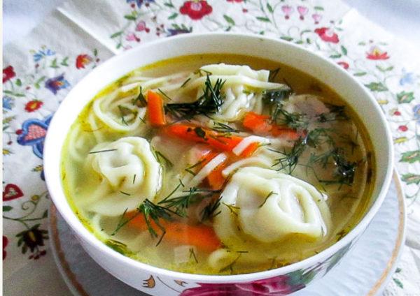 пельменнный суп