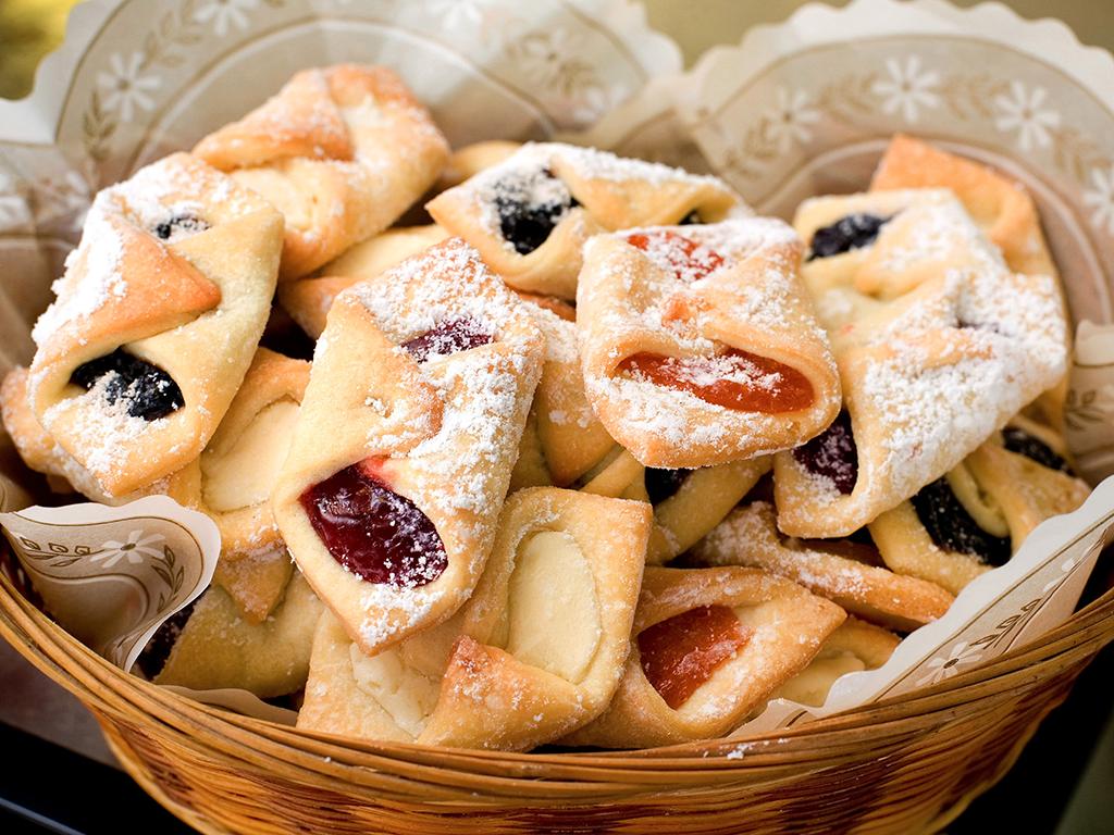 печенье с фруктовым джемом