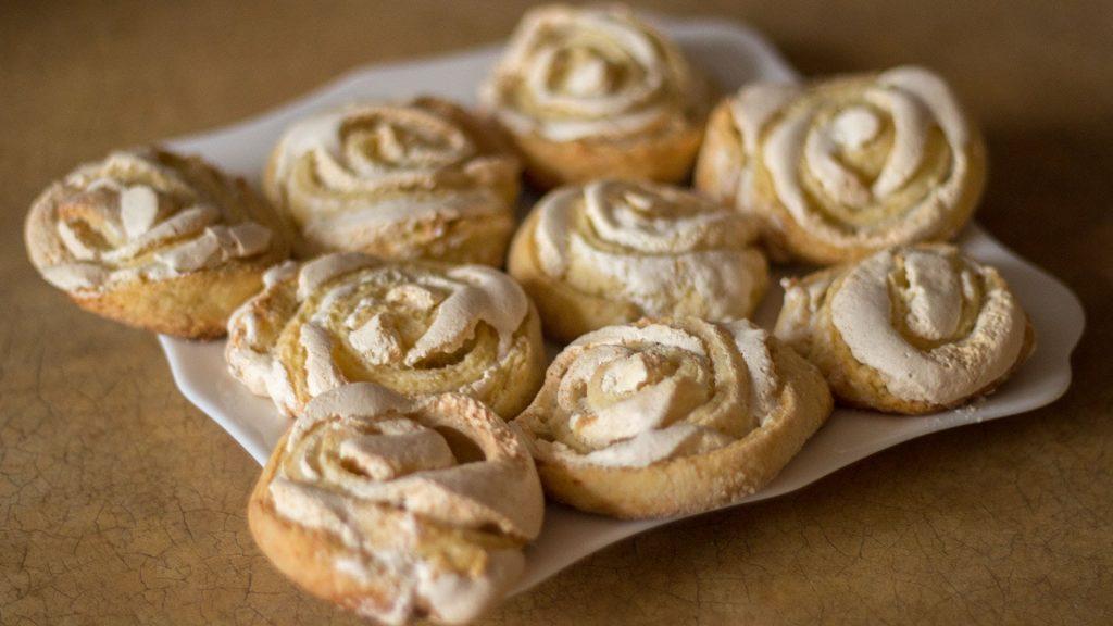 творожное печенье с безе