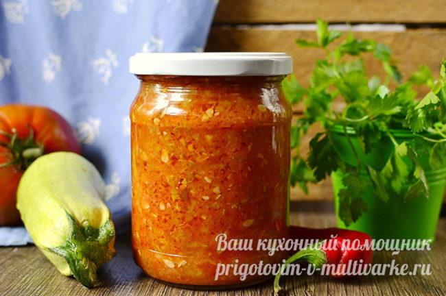 Аджика из кабачков с томатной пастой в мультиварке — 10