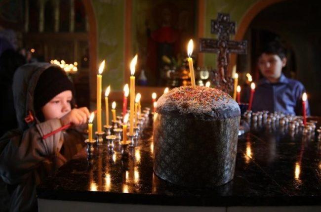 Пасха и свечи