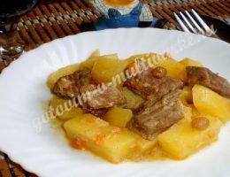 Говядина с картошкой в мультиварке рецепт с фото