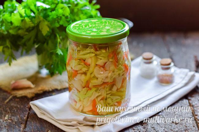 салат с капустой на зиму