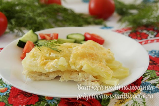 вкусная картошка запеченная в духовке с мясом