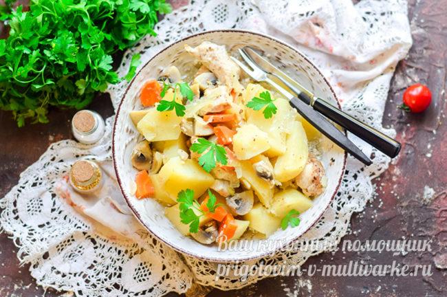 Картошка с индейкой