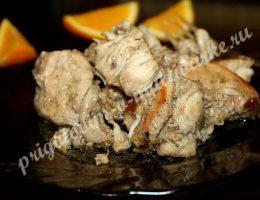 курица в апельсиновом маринаде