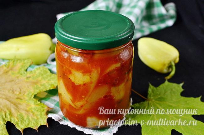 Лечо из болгарского перца