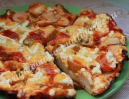 домашняя пицца на сковороде