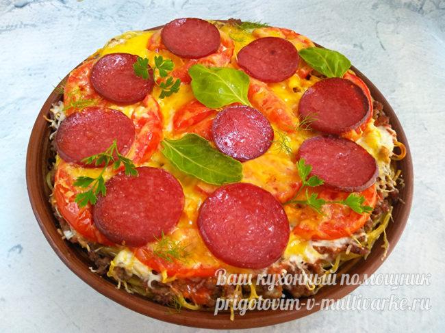 пицца из макарон