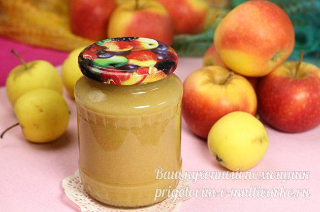 Пюре из яблок со сгущенкой