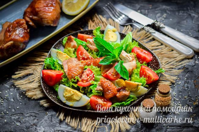 вкусный диетический салат
