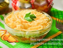 очень вкусный салат со шпротами слоями