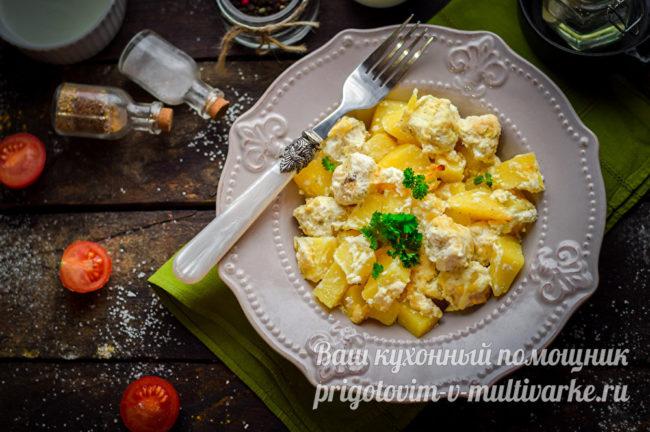 куриные шарики с картошкой
