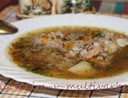 Гречневый суп в мультиварке