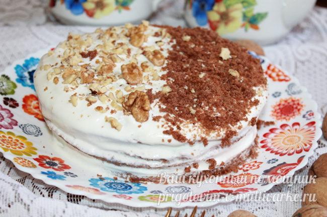 Быстрый торт в микроволновке