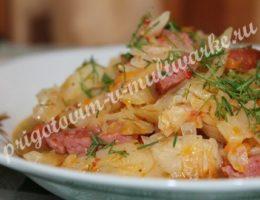 Тушеная капуста в мультиварке Поларис, рецепт с фото