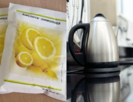 Как очищать чайник от накипи лимонной кислотой