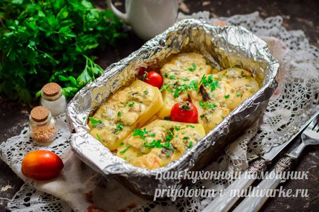вкусный картофель с голубым сыром